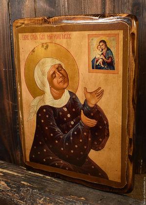 Блаженная Матрона пред иконой Взыскание Погибших