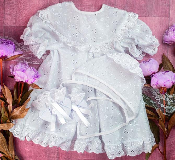 Одежда для крещения девочки