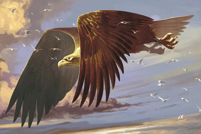 Большая птица Зиз