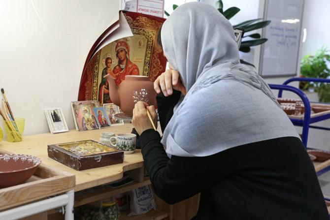 Молитва в женском монастыре