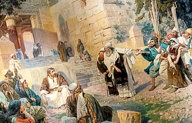 Фрагмент картины В. Поленова «Христос и грешница»