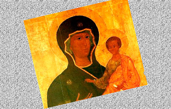 Фрагмент иконы Богородицы Луки