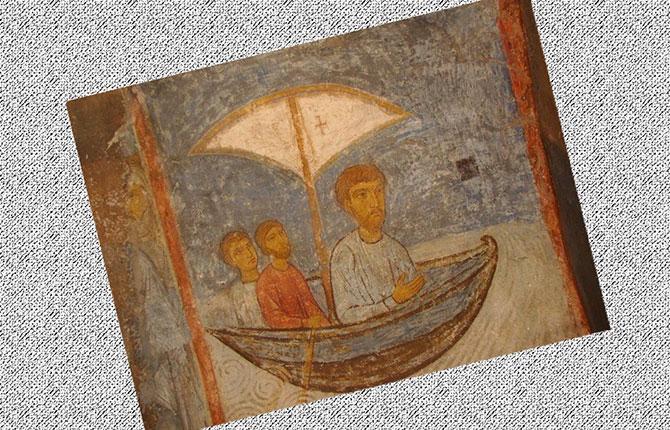 Одна из древнейших фресок Снетогорского монастыря
